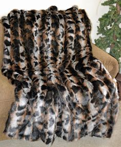Exotic MultiColored Faux Fur / Fake Fur by CindyHeitkampDesigns, $169.00