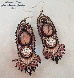 Bead Embroidery Beadwork Earrings  Gypsy  by DaynaMilesDesigns, $64.00