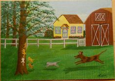 2014, Let's Play, ACEO Art Card, ebay@packrat-2013