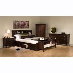 Manhattan Bookcase Storage Platform Bed