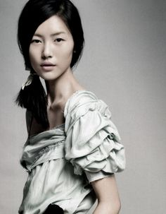 """liu wen in """"quirky pastel"""" by li qi for vogue china june 2010."""