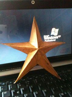 3D paper star!