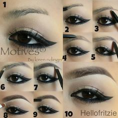 Use spoolie from one end of Motives for La La Mineral Eyebrow Pencil and brush up hair 3-5.Line eyebrow with brow pencil with desire shape and fill in just the tail 6.Apply the lighter powder from Motives Essential Brow Kit  with an angled brush going upwards in the front section of brows 7.Use the darker powder from #Motives Essential Brow Kit with an angled brush to darken the rest of the brows  8. Apply #Motives Creme Concealer in #Amber  underneath the brow line to define