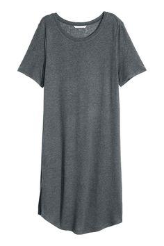 T-shirt comprida com linho | H&M