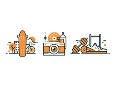 Lifestyle Icons by Zabombey - Dribbble