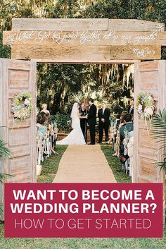 how to become a wedding planner. a guide