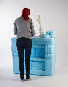 This is an instance where a love of dollhouses may have gone right over the edge. Slovakian artist Silva Lovasova, while working on her degree in Design at the