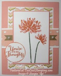 by Kathe Madsen.  Too Kind, Lullaby dsp, stampin up, cards  Details at www.toocoolstamping.com