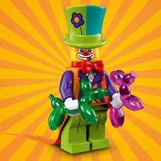 www.firestartoys.com - LEGO collectable series 18 - 71021 - Party Clown #LEGO