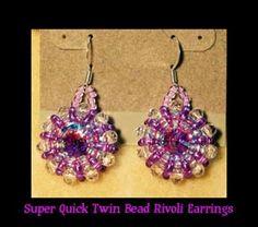 Instant download! SUPER Quick N Easy TWIN Bead Rivoli Earring TUTORIAL