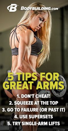 Ashley Hoffmann has one of the best physiques in the biz. Here are 5 of her favorite arm-building tips you can use in your workouts. Bodybuilding.com