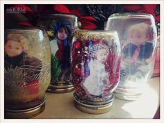 Tori Spelling's Easy and Fun Winter Crafts!   I especially love these Mason Jar Snow Globes! So adorable!