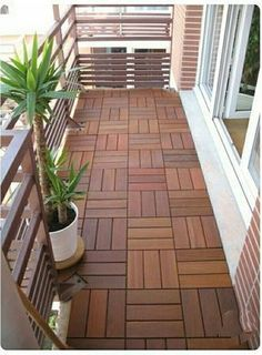 Looking for small balcony design ideas? - Green Aesthetic - : Looking for small balcony design ideas? Balcony Tiles, Condo Balcony, Balcony Flooring, Apartment Balcony Decorating, Apartment Balconies, Cozy Apartment, Apartment Walls, Bedroom Balcony, Apartments Decorating