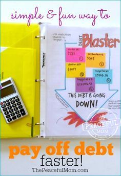 1 Month Money Makeover -- A simple and fun way to pay off your debt faster by turning it into a game. Print this FREE Debt Blaster Game Board and blast away your debt quickly! -- from ThePeacefulMom.com
