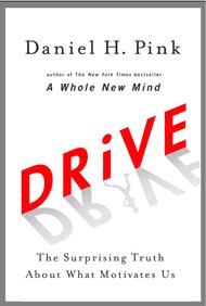 """The subtitle says it all, """"the surprising truth about what motivates us."""" Pink explains why """"carrots and sticks"""" don't often work to motivate someone.  On the other side of the coin, Pink describes how autonomy/mastery/purpose are the three essential elements to designing environments where people will be motivated. The book ends with a toolkit for implementing systems to create """"drive"""" wherever you are, including the classroom."""