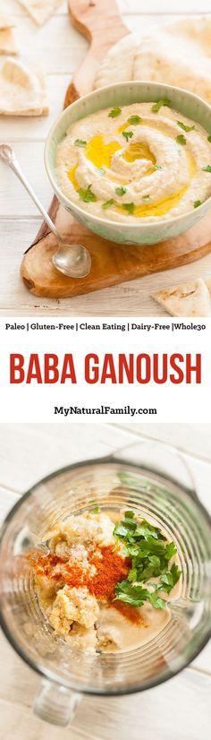 Baba Ganoush Recipe {Paleo, Clean Eating, Gluten Free, Dairy Free, Vegan, Whole30}