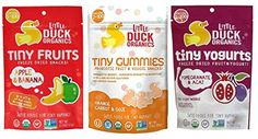 Little Duck Organics Tiny Snacks 3 Flavor Variety Bundle 1 Apple Banana Fruits 1 Orange Carrot Goji Gummies 1 Pomegranate Acai Yogurt 753 Oz Ea * Check out this great product. (Note:Amazon affiliate link)
