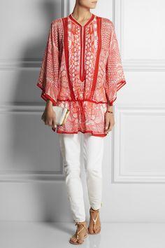 Météo de la Mode : ETE. Caftan en soie - Roberto Cavalli. #MbyCristina #teva