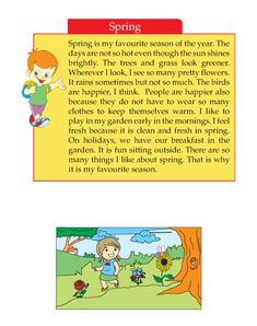 Writing skill - grade 2 - seasons (3) English Stories For Kids, Learning English For Kids, English Lessons For Kids, English Worksheets For Kids, Learn English Words, Creative Writing Topics, English Creative Writing, English Writing Skills, English Reading