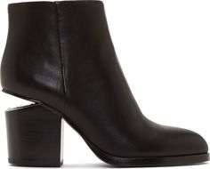 051563ec4 Alexander Wang - Black Notched Heel Gabi Ankle Boots Hiking Boots Women