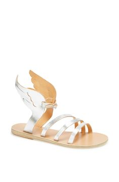 Such fun metallic winged sandals
