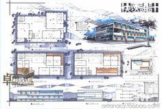 Landscape Architecture Model, Architecture Concept Drawings, Architecture Board, Landscape Plans, Architecture Portfolio, Architecture Design, Architecture Presentation Board, Presentation Layout, Architectural Presentation