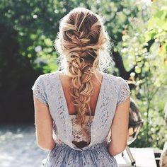 loose curly french braid