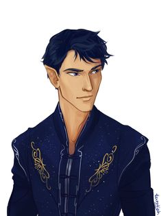 """Rhysand is from the """"a Court of Thornes and Roses"""" series by Sarah J. Maas by: taratjah on deviant art"""