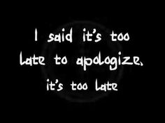 41- Apologize By: OneRepublic.. I like the way this song sounds. http://tabs.ultimate-guitar.com/o/onerepublic/apologize_crd.htm