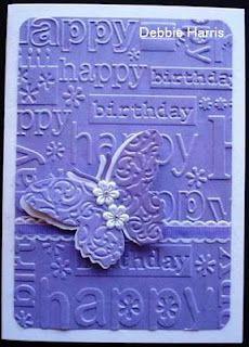 DKH Designs Cuttlebug, Purple, I love purple! Diy Crafts For Gifts, Paper Crafts, Chalk Ink, Make Your Own Card, Diy Calendar, Planner Book, Diy Cards, Handmade Cards, Embossed Cards
