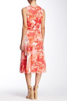 Sleeveless Floral Chiffon Midi Dress by Eliza J on @nordstrom_rack