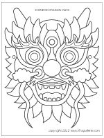 Chinese dragon mask via firstpalette ~ Activity for The Rain Dragon Rescue {Imaginary Veterinary Book 3)