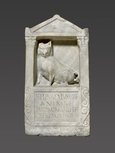 """""""To Helena, foster daughter, the incomparable and worthy soul"""" - Was Helena a favorite pet or beloved family member? Thisgrave reliefis unusual in size & specificity for one made for an animal, but the lack of human representation does make one wonder—maybe this was one special dog? The pup depicted is certainly well-nourished, appears to have had a litter in her lifetime, and has a face that says""""I love you too, dear master!""""  Marble gravestone of Helena, Roman, ca.150–200 CE. Getty…"""
