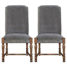 Sophia Velvet Side Chairs, Pair Now: $699.00 Was: $935.00