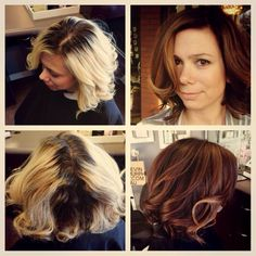 Beautiful Hair Transformation from Bleach Blonde to gorgeous and ...