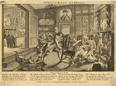 Christmas gambolls, mid-18th century, etching published by P. Griffin (Ashmolean Museum, Oxford)