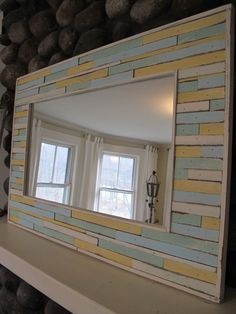 custom cottage mirror by RedGarage on Etsy