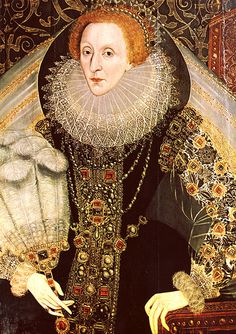 1585-1590 Queen Elizabeth with a fan, attributed to John Bettes the Younger (Hever Castle, Kent)