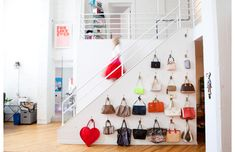decorating w/ handbags --> SkirtPR office tour for @Matty Chuah Everygirl