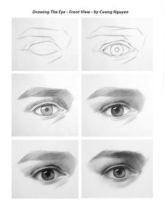 Drawing the Eye - Front view step by step by Cuong Nguyen https://www.facebook.com/icuong?fref=photo