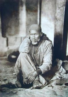 #Old photo of #Hindu #saint #Shirdi Sai Baba