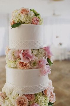 Decoración de torta (cakes) con Flores naturales