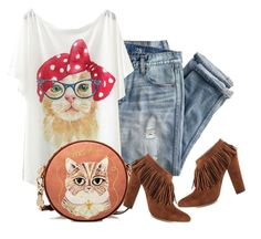 """""""Meow"""" by sjlew ❤ liked on Polyvore featuring J.Crew and Michael Antonio"""