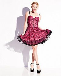 BETSEY PINK ZIP FRONT PARTY DRESS