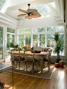 love this interior - Sunroom Dining Room