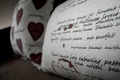 Hertex Fabric's PS I Love You and Love Letters in Blood Red