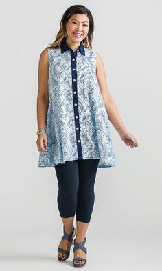 Oxford Tunic / Mother's Day Fashion & Gifts / MiB Plus Size Fashion for Women