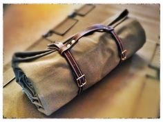 Wynnchester Canvas Bedroll with leather straps