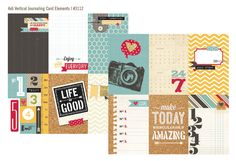 Simple Stories SN@P 24/7 Collection: 4X6 journaling card elements--vertical # 3112