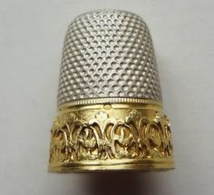 HTF Made in FRANCE Mid-Century GOLD & STERLING SILVER THIMBLE - #10 -HALLMARKED